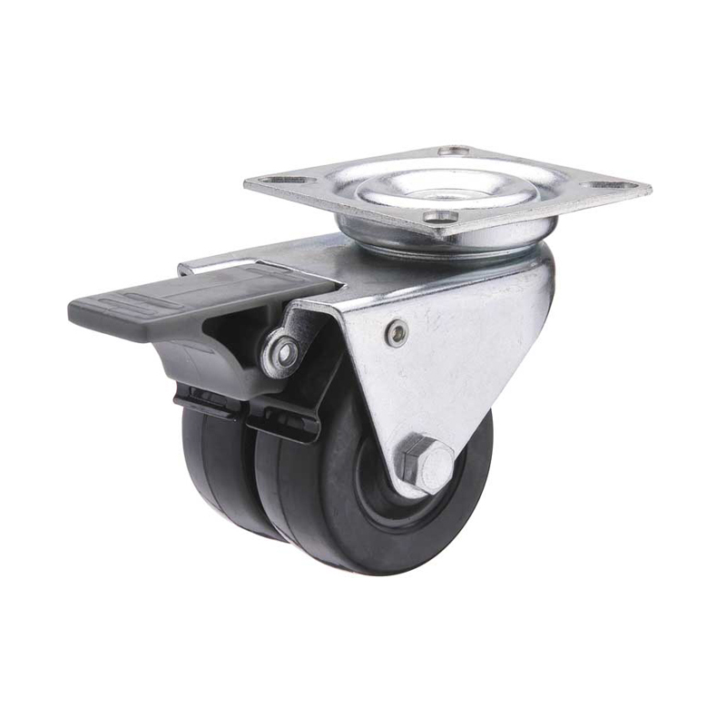 twin wheel swivel caster