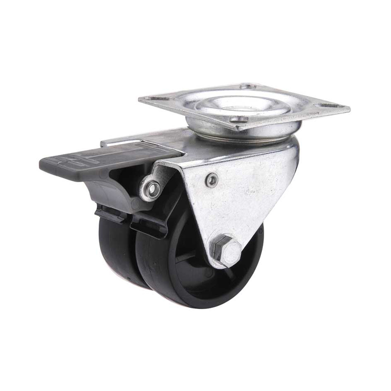 twin wheel locking casters