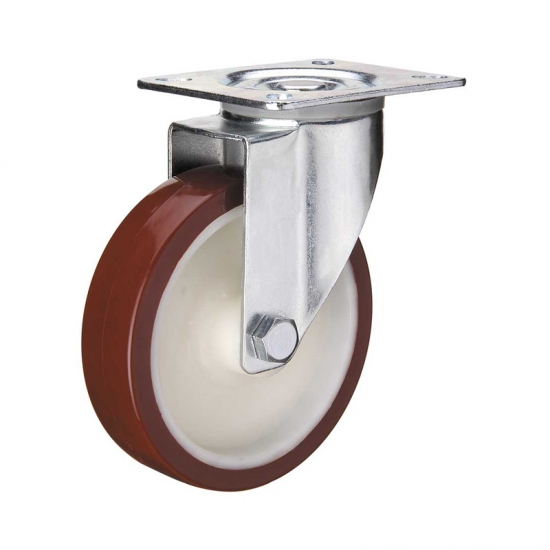 European Type Bolt Hole Swivel Industrial Rollers Casters