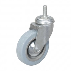 Rubber Wheel Threaded Stem Casters