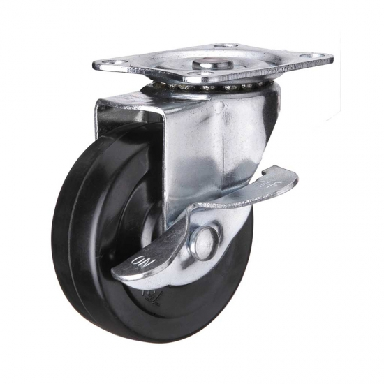 Side Mount Small Casters With Brakes China Side Mount