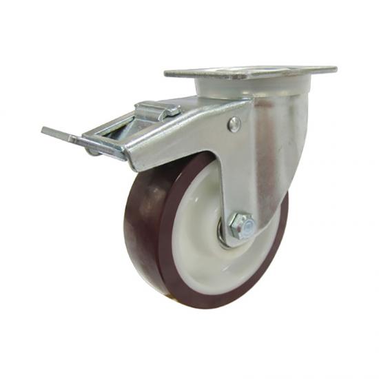 European Type Polyurethane And Nylon Caster Wheel Brake