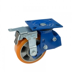 shock absorbing caster wheels