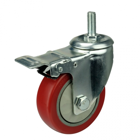 Threaded Stem 3 Inch Swivel Casters With Brake China
