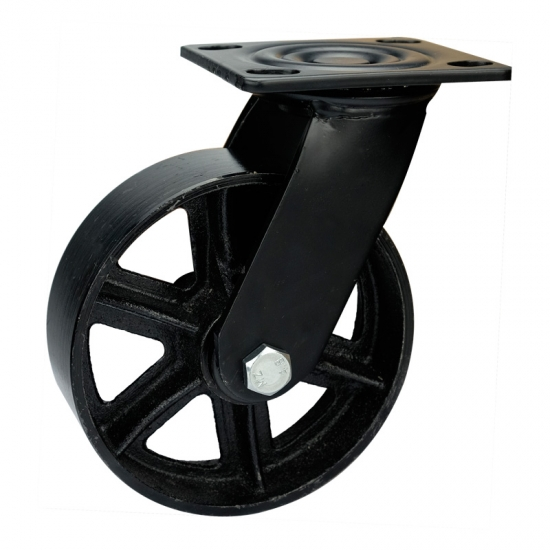 8 Inch Black Cast Iron Wheels For Furniture