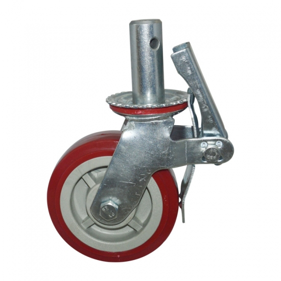 Red Polyurethane Scaffolding Caster Wheels China Red