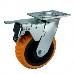 Caster Wheels Polyurethane Plastic With Brakes