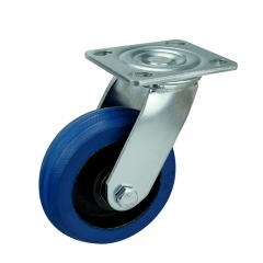 Blue Rubber Casters Wheels