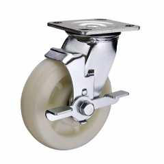 Nylon Caster Wheel With Side Brake