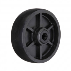 4 5 6 8 black plastic single wheel