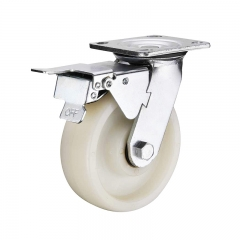 nylon caster wheel with double brakes