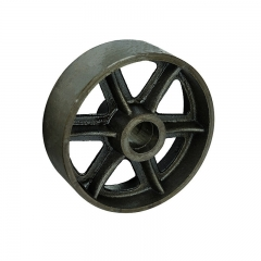 Vintage cast iron single wheel