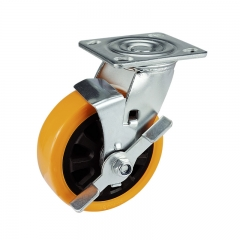 PU Caster Wheel With Side Brake
