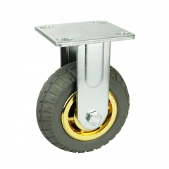 Fixed/Rigid Gray Elastic Rubber Casters Wheels