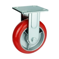 rigid/fixed iron core PU caster wheel