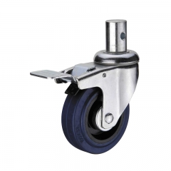 castors and industrial wheels with double brakes