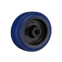 3 4 5 blue elastic rubber single wheels