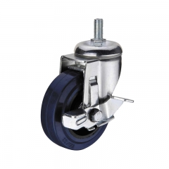 threaded stem caster wheel with side brake