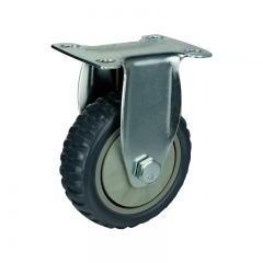 Gray PVC Rigid Caster Wheel