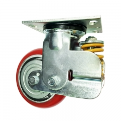 swivel shock absorber caster wheel