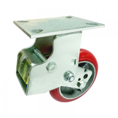 rigid shock absorber caster wheel