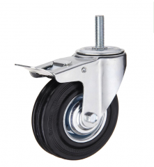Threaded Stem Caster Heavy Duty With Brake