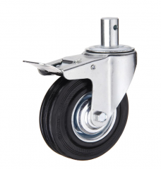 Stem Swivel Caster Wheels With Brake
