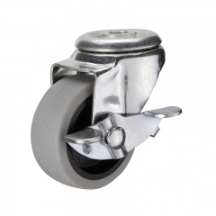 Light duty swivel TPR caster wheel