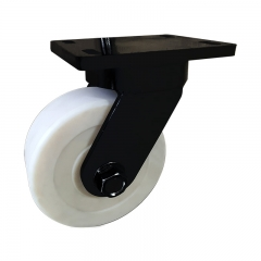 Super heavy duty nylon swivel caster wheel