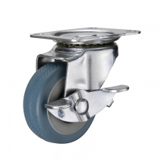 Light duty swivel rubber caster wheel
