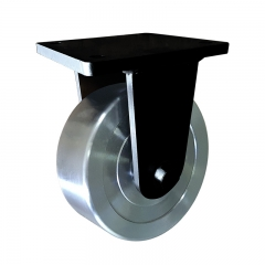 Super heavy duty forged steel rigid caster wheel