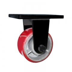 Super heavy duty PU rigid caster wheel