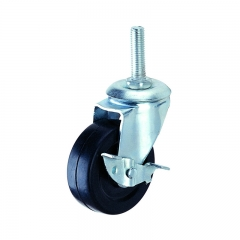 Light duty threaded stem caster wheel