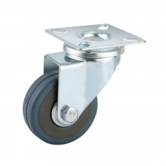 Light duty swivel gray PVC caster wheel