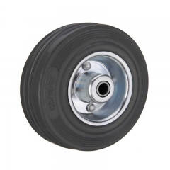 Black rubber single wheel