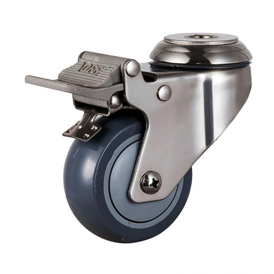Stainless threaded stem caster