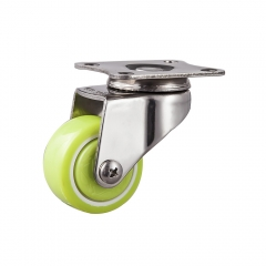 Light duty stainless pu caster