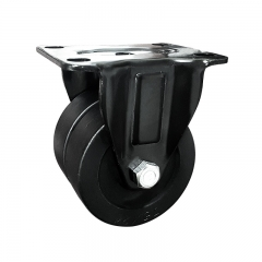 Low profile dual wheel nylon rigid caster wheel