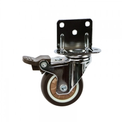 Light duty L board TPR caster wheel with brake