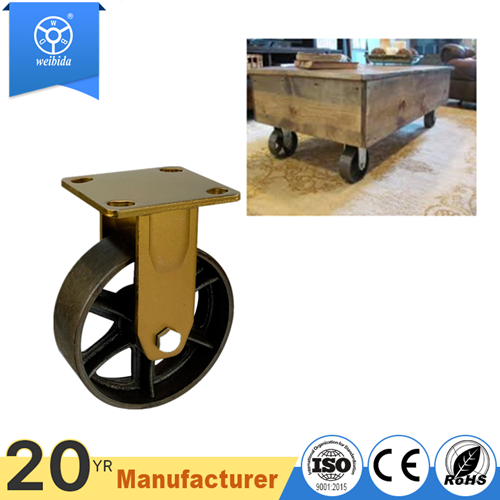 Cast iron swivel caster for furniture